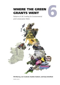 Where the Green Grants Went 6: Patterns of UK Funding for Environmental and Conservation Work