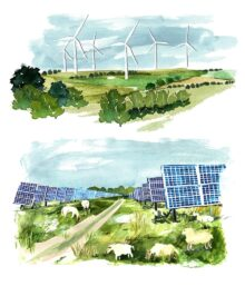 Solar and turbines